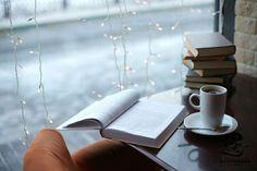rain and book