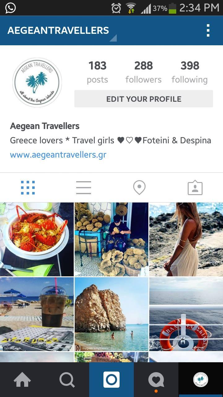 aegean travellers instagram