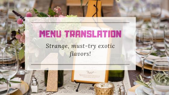 menu translation